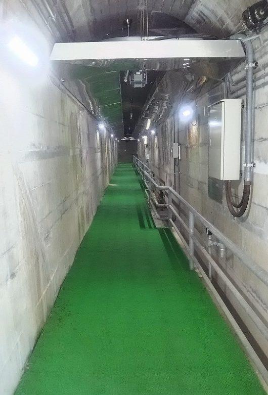 八田原ダム 地下通路