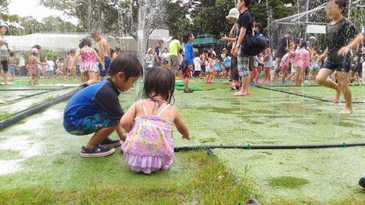 広島市植物公園 噴水迷路  苦手な子