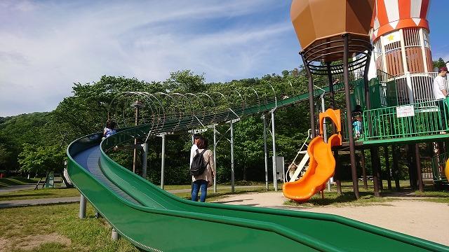 のどごえ公園 ローラー滑り台