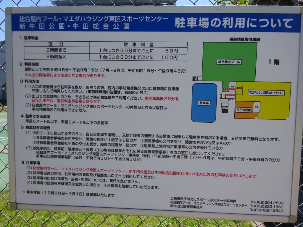 牛田公園 駐車場詳細